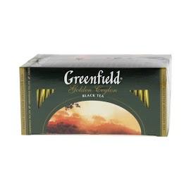 GREENFIELD Musta tee 25 x 2 g