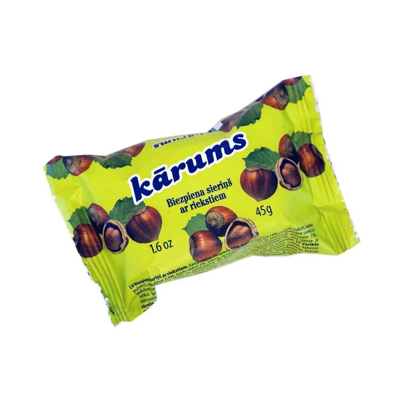 KÄRUMS Hasselpähkinä rahkapatukka 45 g