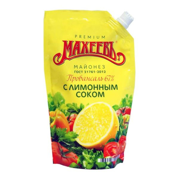 MAHEEV Majoneesi Provansaal sitruunamehulla 67 % 400 ml