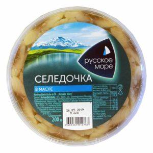RUSSKOE MORE Sillifilee öljyssä 200 g