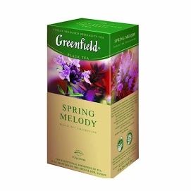 GREENFIELD Musta tee Spring Melodi 25 х 1
