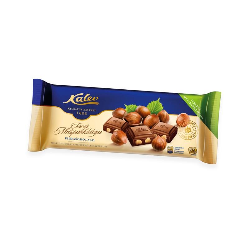 KALEV Maitosuklaa hasselpähkinä 200 g