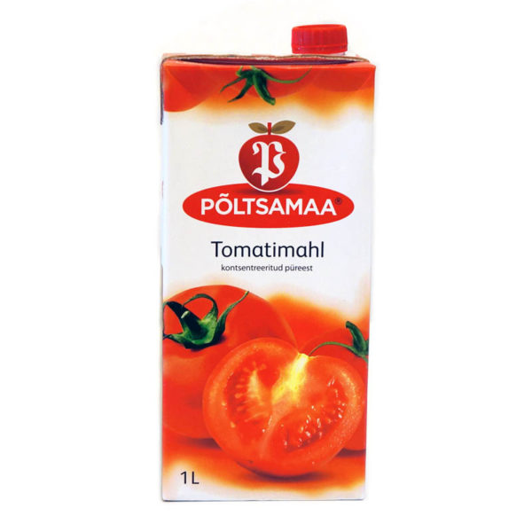 PÖLTSAMAA Tomaattimehu 100 % 1 L
